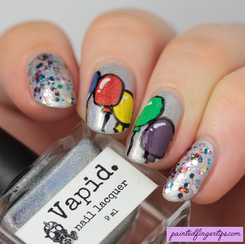 Balloons nail art by Kerry_Fingertips