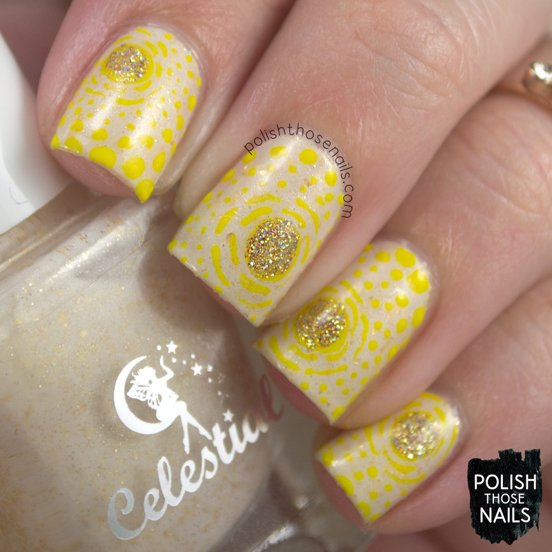 Sunshine Wanderlusting nail art by Marisa  Cavanaugh