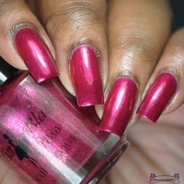 Little Black Dress Nail Lacquer Rouge Luxe Swatch by glamorousnails23