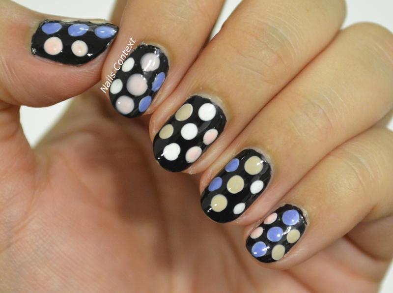 Kate Spade Inspired Nails  nail art by NailsContext