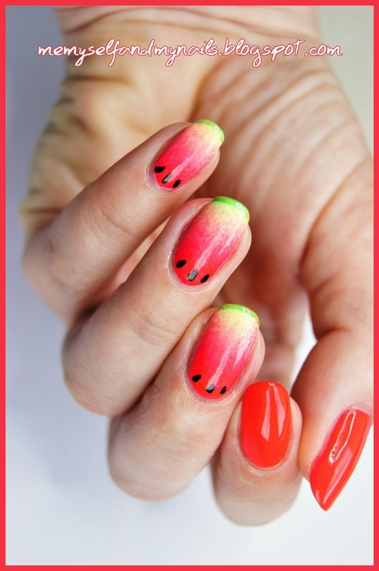 Watermelon  nail art by ELIZA OK-W