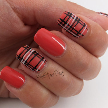 Autumn Plaid Nail Art Design nail art by Make Nail Art