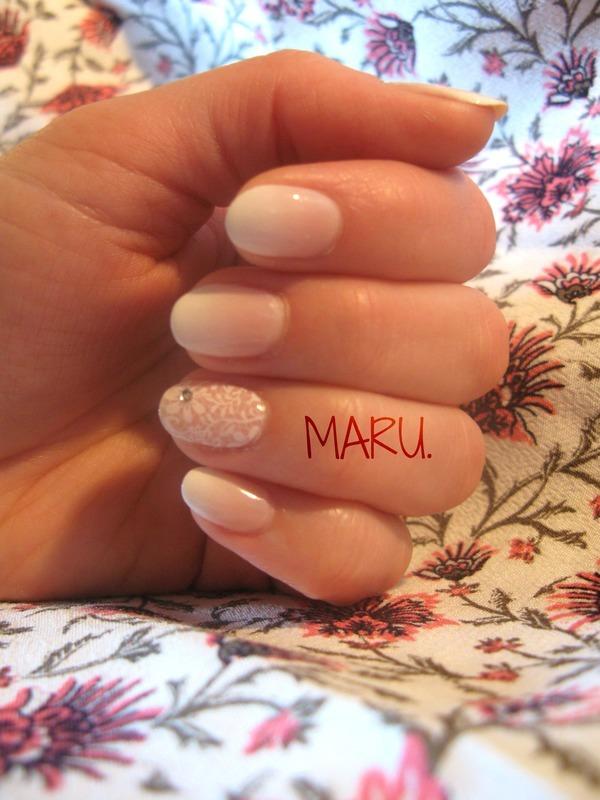 Bridal Lace nail art by Martina