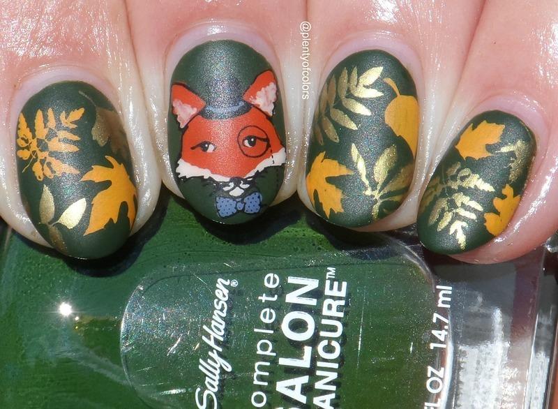 #glamnailschallengesept Fox nail art by Plenty of Colors