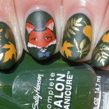 #glamnailschallengesept Fox nail art by Plenty of Colors