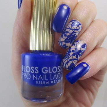 Blue Lace nail art by NinaB