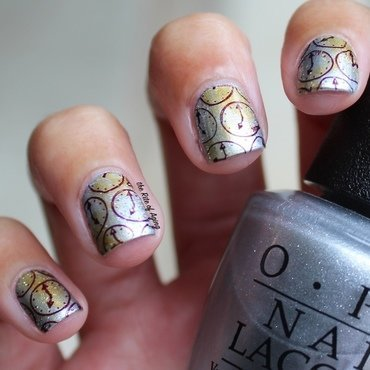 Time Piece Metallics nail art by Monica