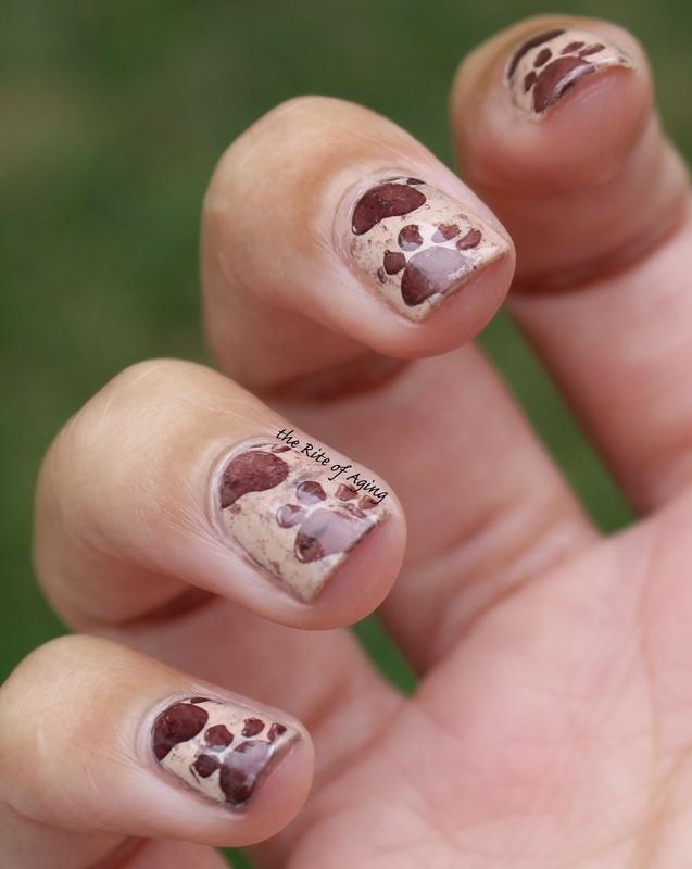 Animal (foot)Prints nail art by Monica