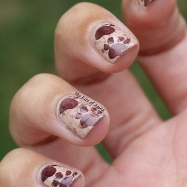 Animal (foot)Prints nail art by Monica