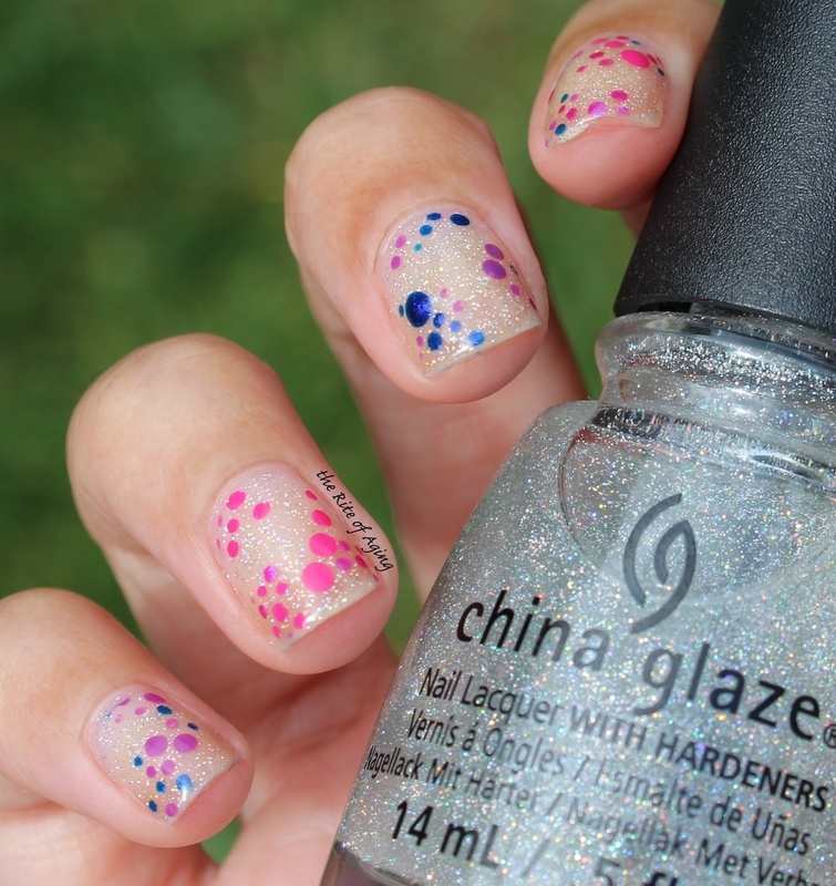 Delicate Dotticure nail art by Monica