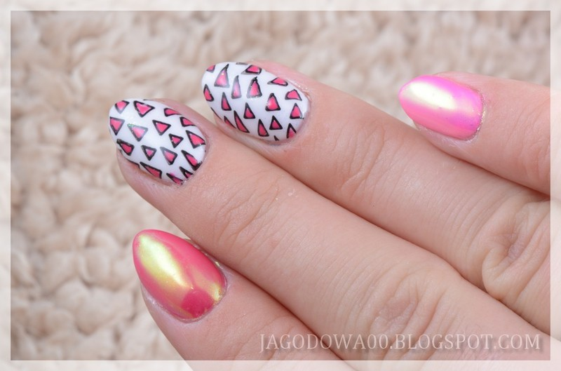 Trójkąty nail art by Jadwiga