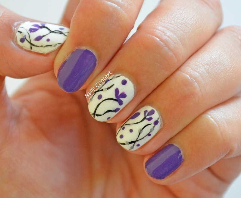 Crocus Flowers nail art by NailsContext