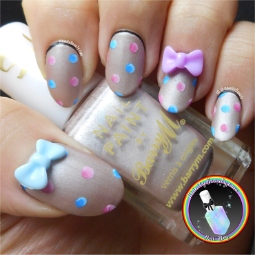 Girly Freehand Polka Dots nail art by Ithfifi Williams