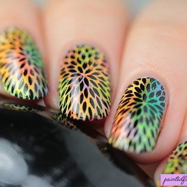Angled neon starburst stamping thumb370f