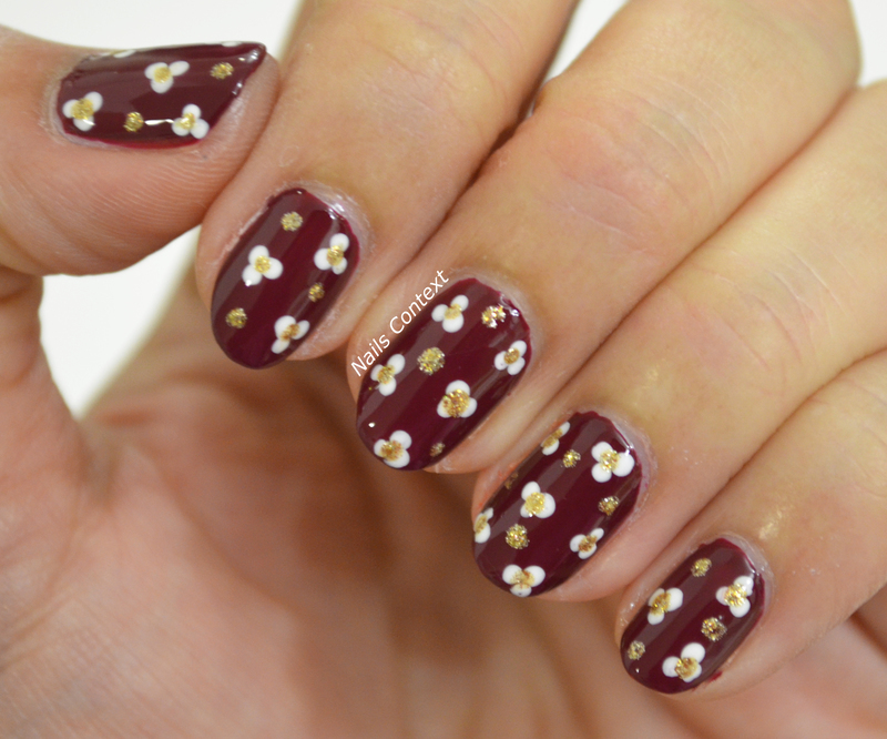Fall Florals  nail art by NailsContext
