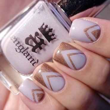 Elegant chevron design nail art by polilish