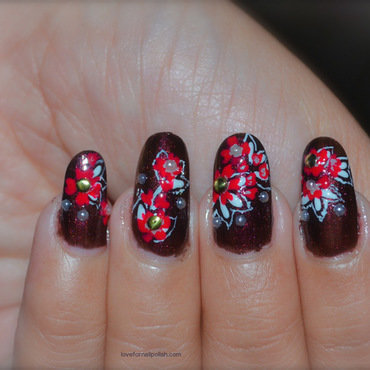 Hand Painted Fall Nails nail art by Demi