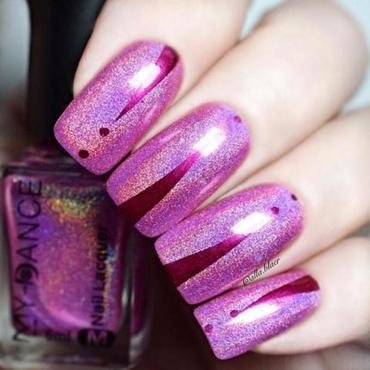 Pink Holographic Nail Polish from beautybigbang nail art by beautybigbang