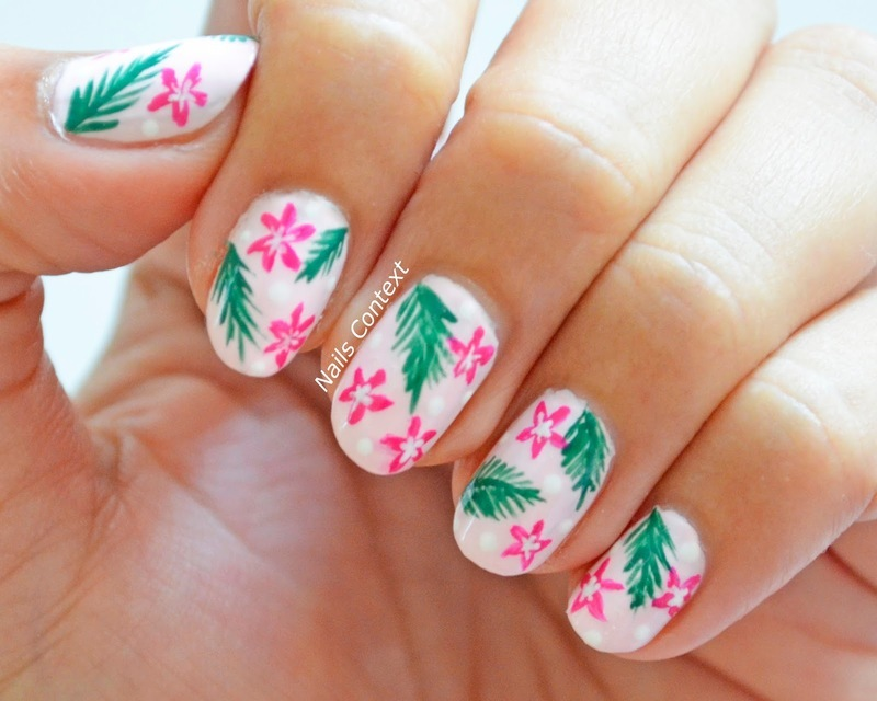 Tropical Nails  nail art by NailsContext