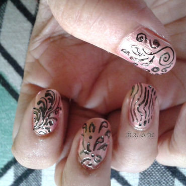 patterns nail art by Rusa