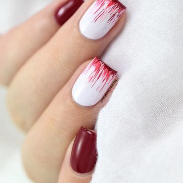 Dripping French Mani nail art by Marine Loves Polish