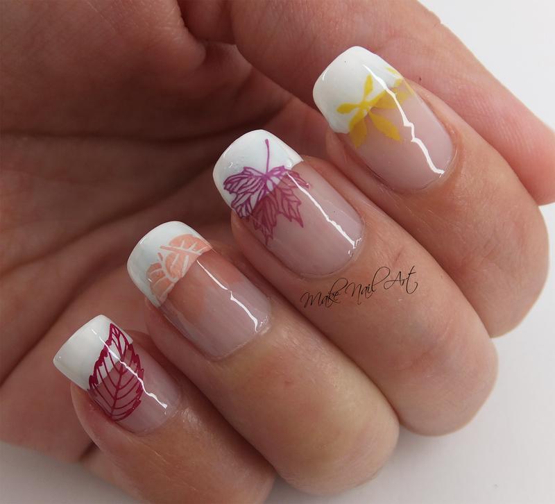 Autumn Leaves nail art by Make Nail Art