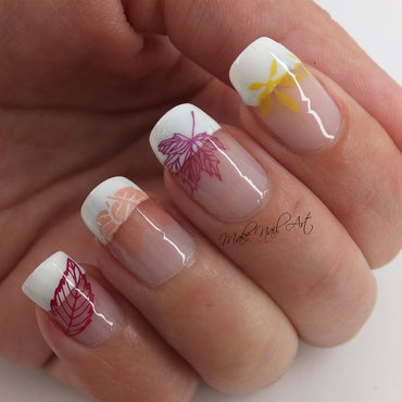 Autumn Leaves nail art by Make Nail Art