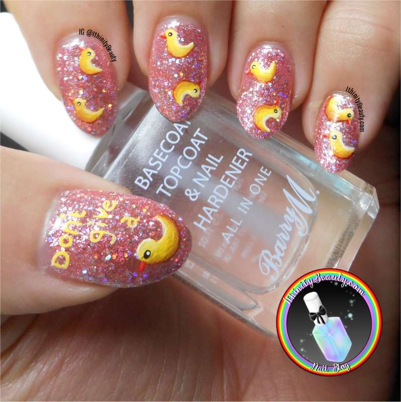 Don't Give A Duck nail art by Ithfifi Williams