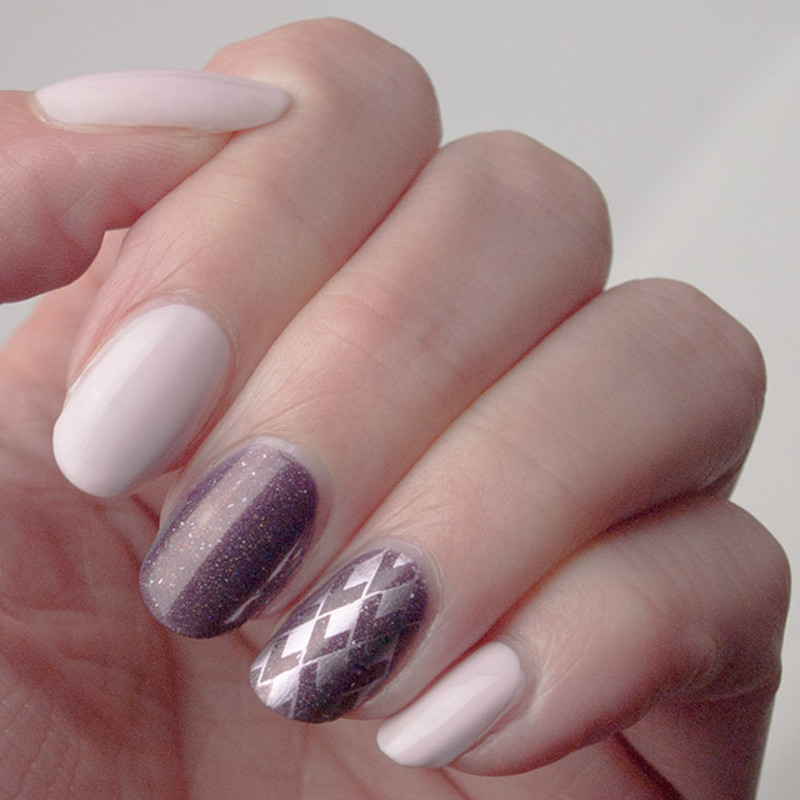 Dusky & dazzling nail art by What's on my nails today?