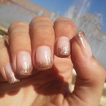 Gold at the fountain nail art by NaNails