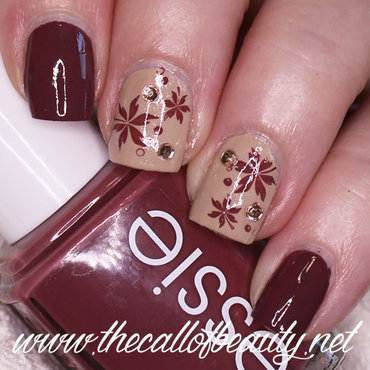 Falling Leaves nail art by The Call of Beauty
