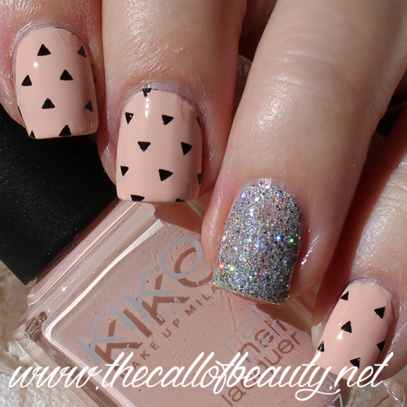 Geometric Chic nail art by The Call of Beauty