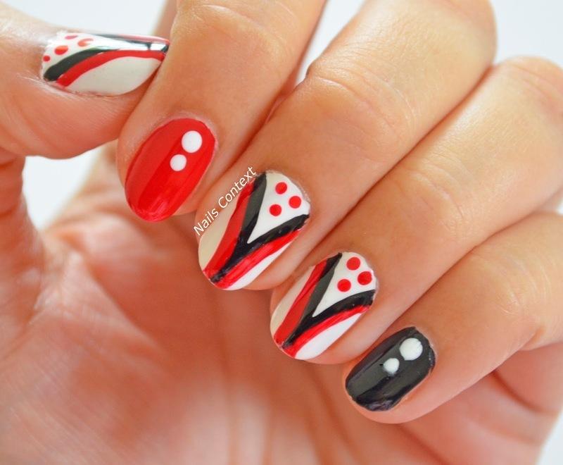 Red and Black Nails  nail art by NailsContext