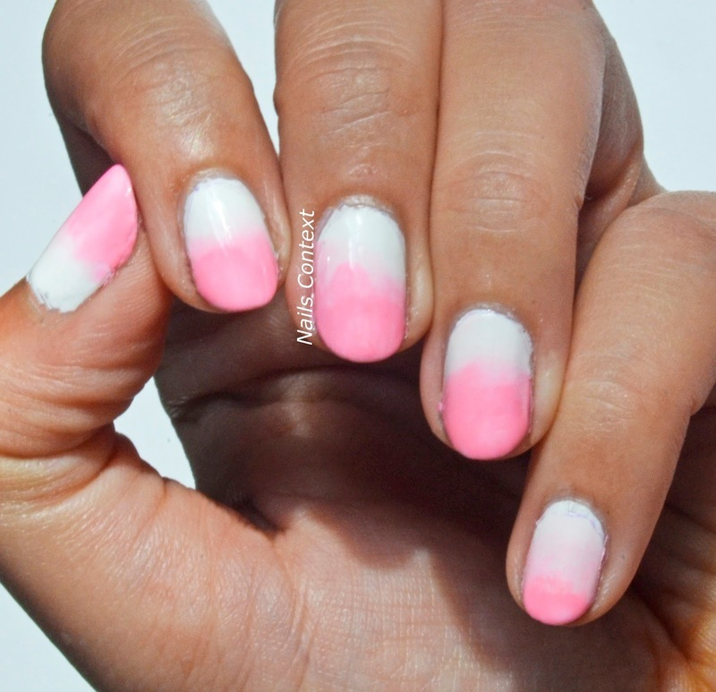 Pink Ombre nail art by NailsContext