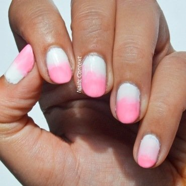 Pink Ombre nail art by NailsContext