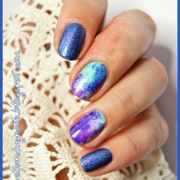 Galaxy nail art by ELIZA OK-W