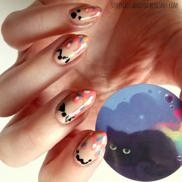 Cute Emoticons nail art by StyleNailsAndYou