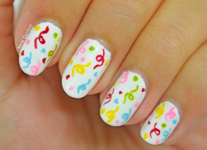 Birthday Nails  nail art by NailsContext