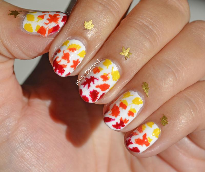 Fall Leaves  nail art by NailsContext