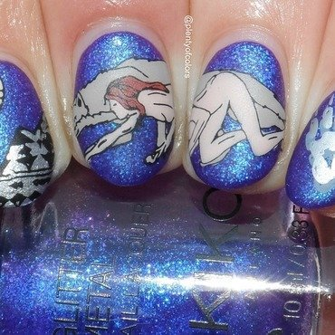She-Wolf nail art by Plenty of Colors