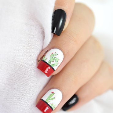 Cactus nail art kinetics hedonist red 20 3  thumb370f