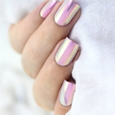 Unicorn powder nail art by Marine Loves Polish