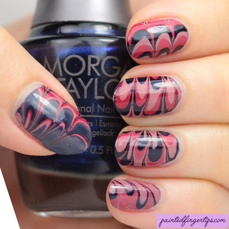 Morgan Taylor Water Marble nail art by Kerry_Fingertips