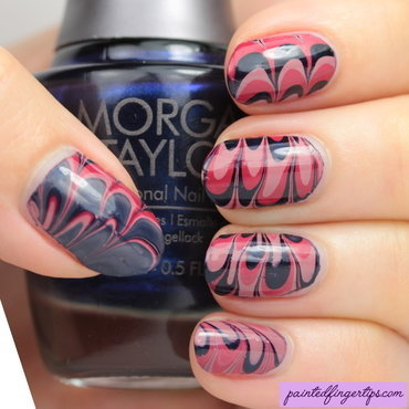 Morgan Taylor Water Marble nail art by Kerry_Fingertips