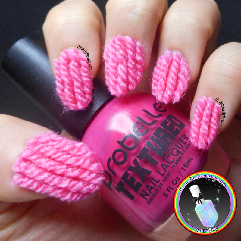 Crazy 3d Wool Yarn Nail Art Nail Art By Ithfifi Williams