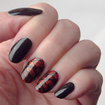 Fiery leaves nail art by What's on my nails today?