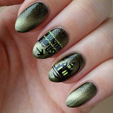 Haunted House - #clairestelle8halloween Challenge nail art by Mgielka M