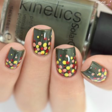 Autumn Dotticure nail art by melyne nailart