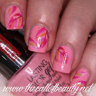 Pink Feathers nail art by The Call of Beauty