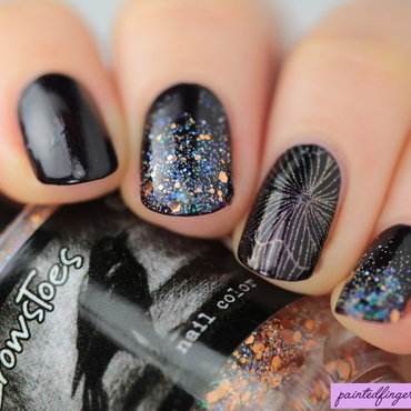Angled glittery nail art thumb370f
